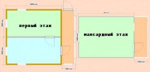 """План деревянного дома """"3Д"""" почти совпадает с планом дома """"2Д"""""""