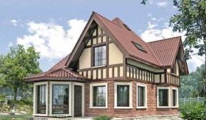 Пример каркасно-панельного дома