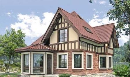 Каркасно панельные загородные дома