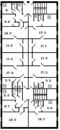 """Тип дома: крупнопанельная хрущевка ( """"поздние брежневки """").  Планировочное решение: раздельные санузлы (исключение..."""
