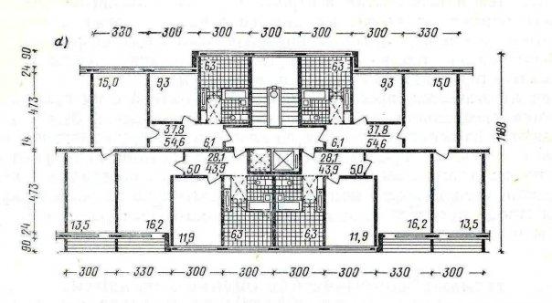 Планировки квартир в серии