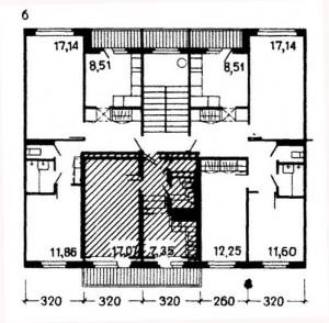 Планировка модификации 111-121