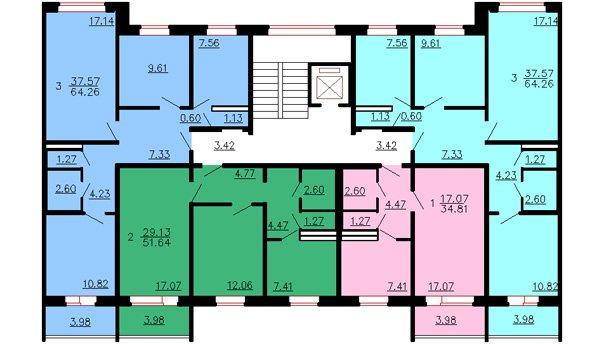 Схема квартира 121 серии