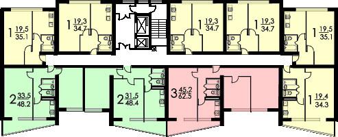 планировка II-68-02
