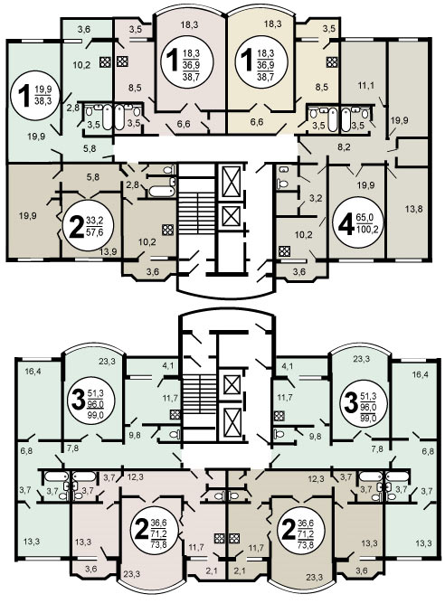 В жилых домах серии И-155 установлена современная система отопления...