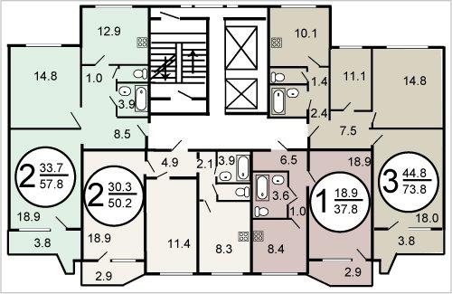 п-44 планировка квартир