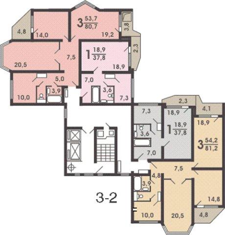 Деловой центр жилья.  Квартира подробно. г. Москва, ул. Базовская, вл. 20А.