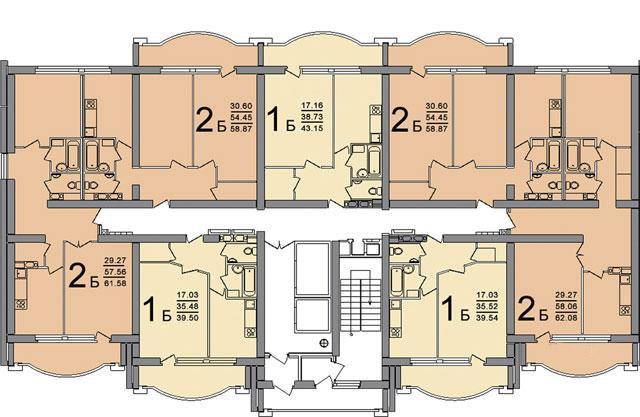 ПБ-02 планировка квартир