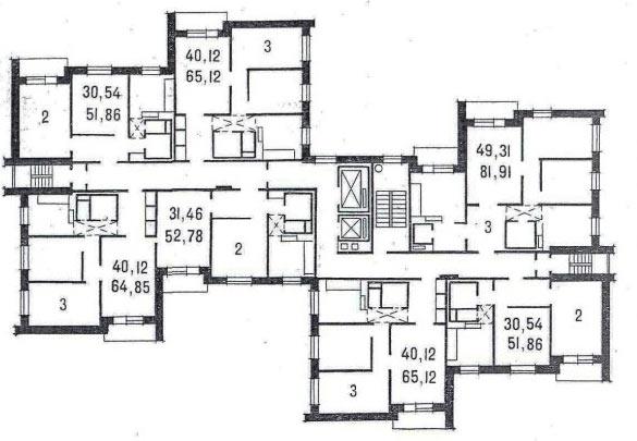 планировка без 4-х комнатной