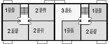 Серия 1-511, типовые планировки.