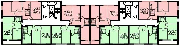 Планировка квартир серии ii-03