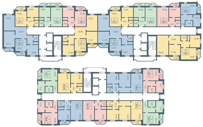 Современные панельные дома серии 137.11 распространены только в Питере.  Дома указанного типа планировки возводились.