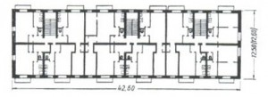 Планировка квартир в домах серии 1-442