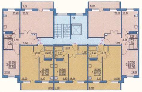 Типовой жилой дом серии 141 (121-141) планировки квартир, фо.