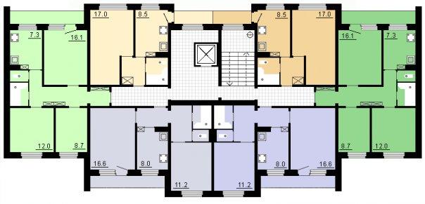 Планировка квартир в домах 81