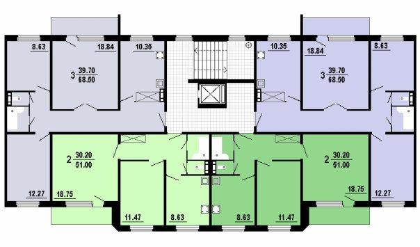 Планировки квартир (для 5-ти и