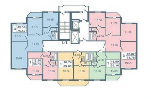 тяга: планировка квартир серия 137.