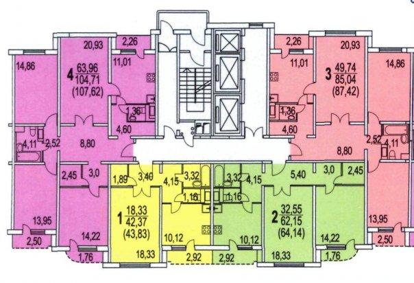 Серия п-3м - планировка квартир. всё о серии..