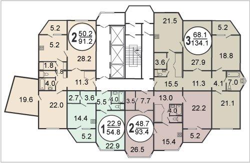 Дома серии П-44тм-25 (ТМ-25) | планировки квартир П-44тм-25