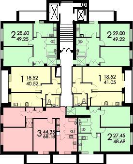 Планировка тишинская, смирновская. серии домов-башен смирнов.
