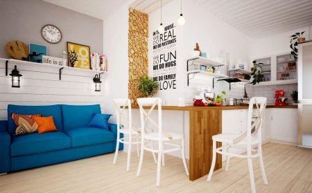 Дизайн-проект квартиры в белых тонах