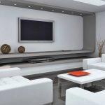 Дизайн белой гостиной