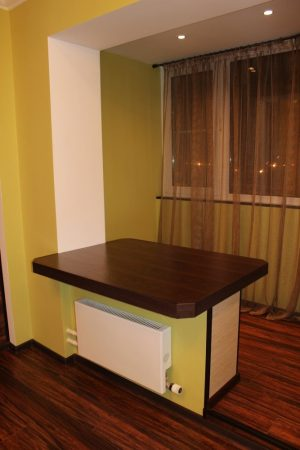 Пример объединения комнаты с лоджией