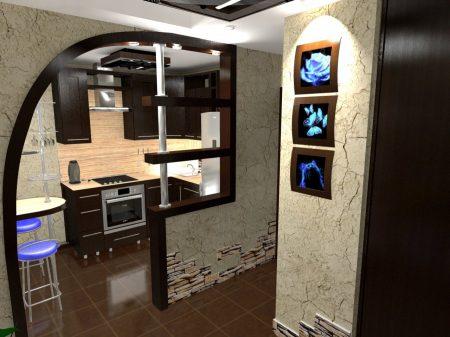 Дизайн коридора и кухни