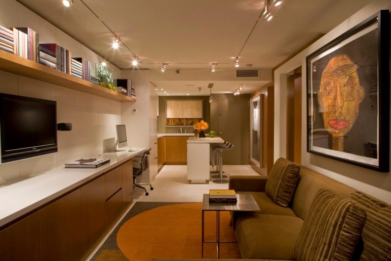 Фото дизайнов вытянутого зала