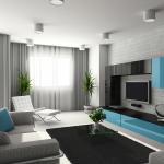 Расширение пространства маленькой гостиной