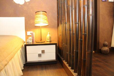 Бамбуковая перегородка в интерьере