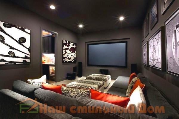 Домашний кинотеатр, удобство и комфорт при просмотре | Наш стильный Дом