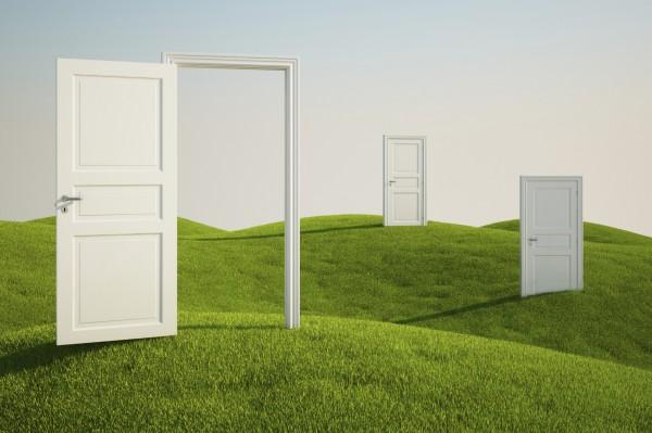 Двустворчатая дверь, установка