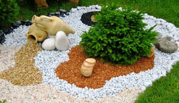 Элемент ландшафтного дизайна — керамзит