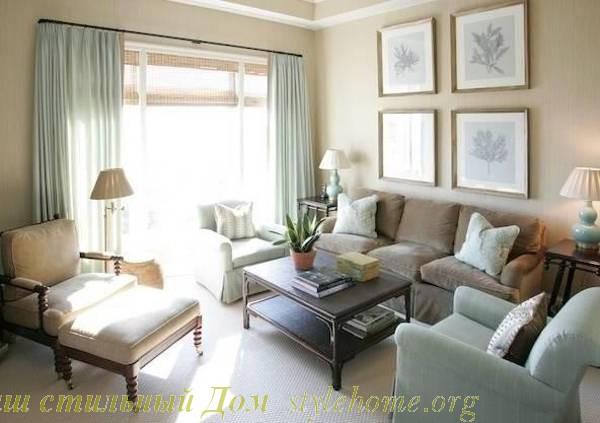 Идеи дизайна интерьера для небольших гостиных