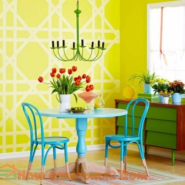 Идеи и рисунки для декора стен — формы и цветовые сочетания | Наш стильный Дом