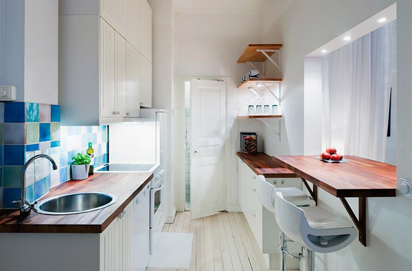 Как обставить кухню размером 6 кв.м