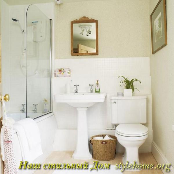Как сделать маленькую ванную просторнее