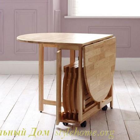 Как выбрать обеденный стол для небольших помещений | Наш стильный Дом