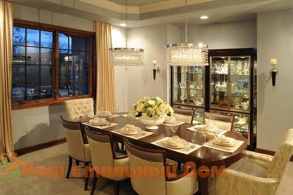 Комфортная столовая для большой семьи | Наш стильный Дом