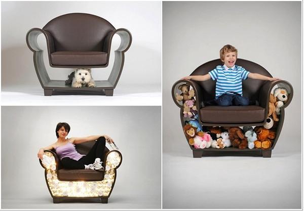 Кресло креативное и кресло удобное