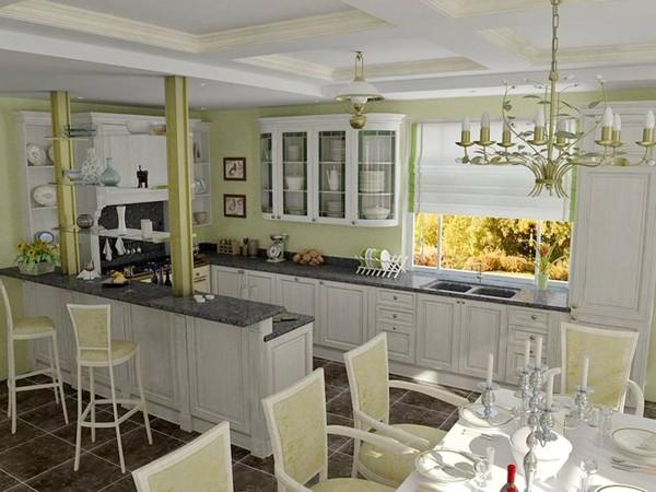 Кухню и столовую — в одно помещение