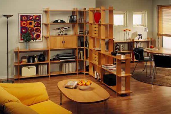 Мебель для гостиной в однокомнатной квартире