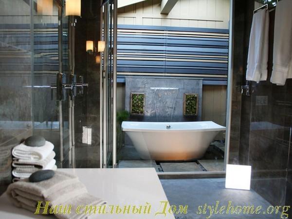 Модные ванные комнаты