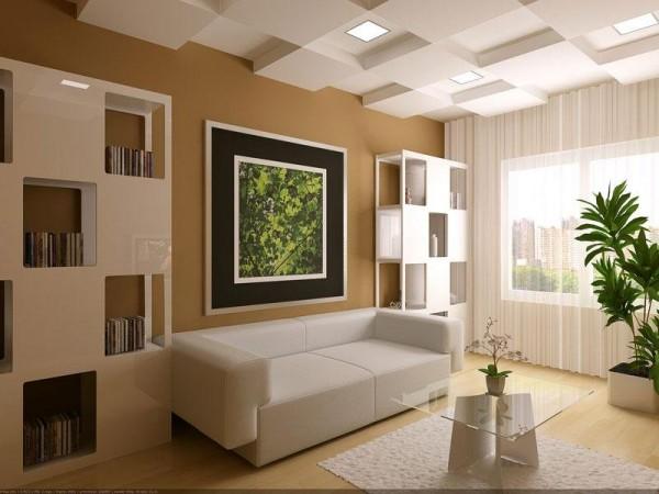Оформление гостиной в небольшой квартире