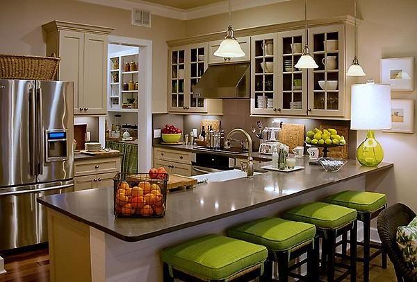 Планировка размещения мебели на кухне