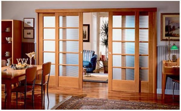 Раздвижные двери, типы дверных полотен
