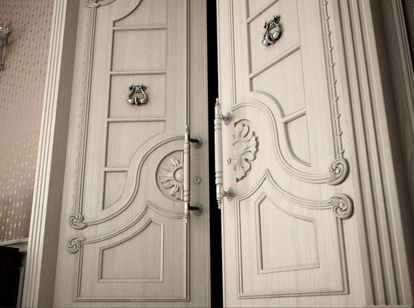 Элитные двери в интерьере: фото, варианты отделки, особенности