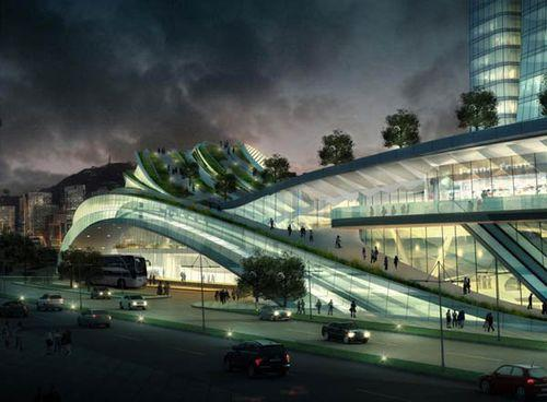 Проект вокзала Express Rail Link West Kowloon Terminus