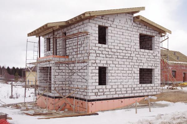 Возведение газобетонного дома с применением надежной теплоизоляции ПЕНОПЛЭКС®